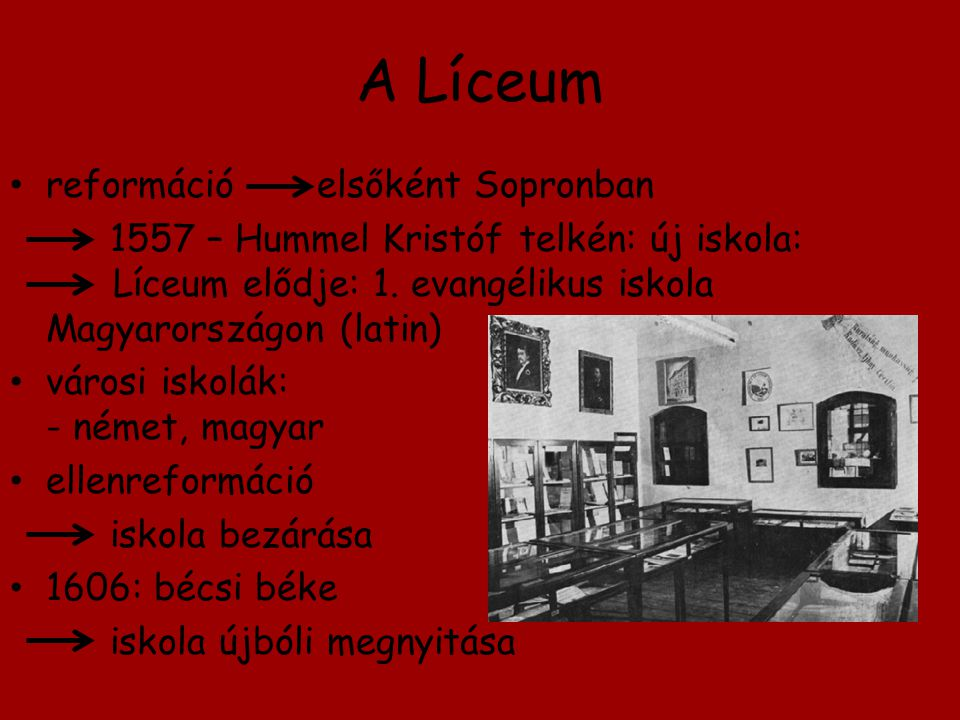 A Líceum reformáció elsőként Sopronban
