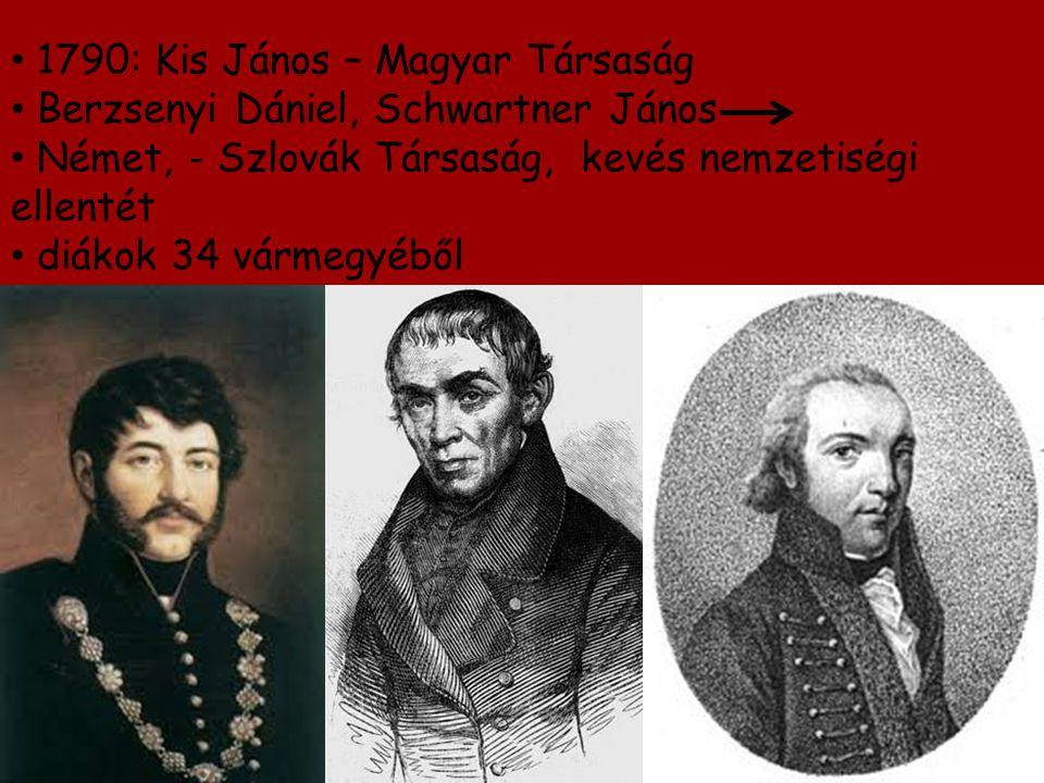 1790: Kis János – Magyar Társaság