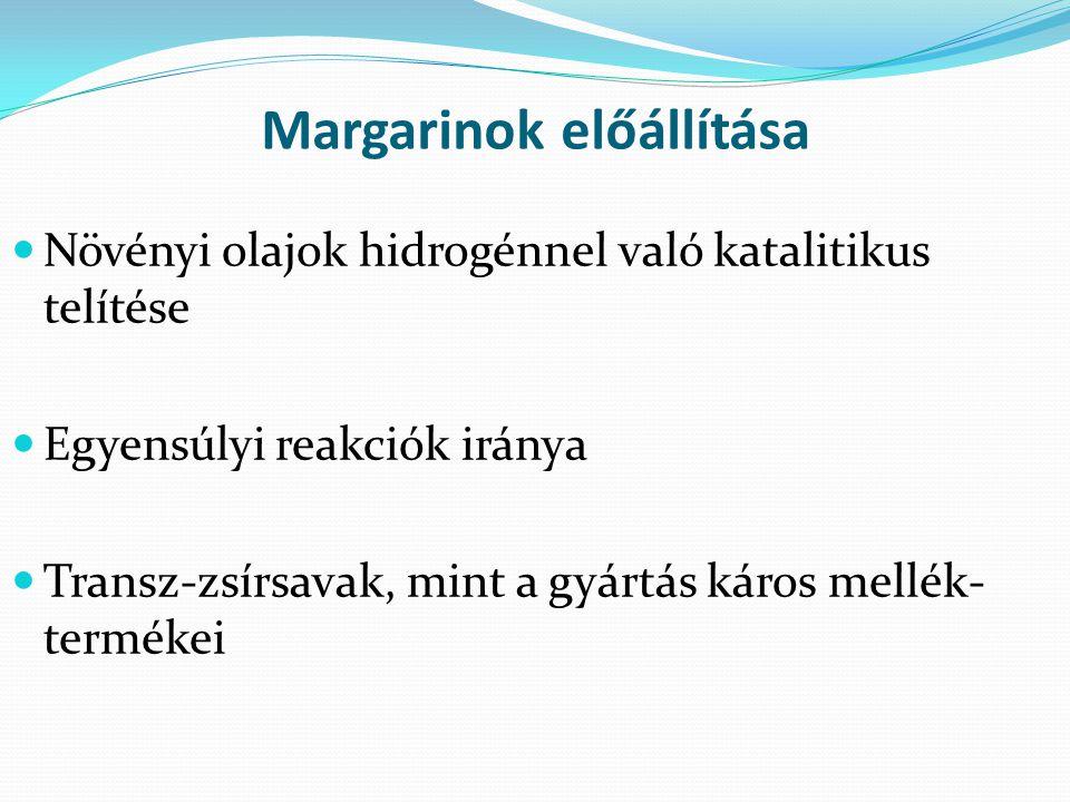 Margarinok előállítása
