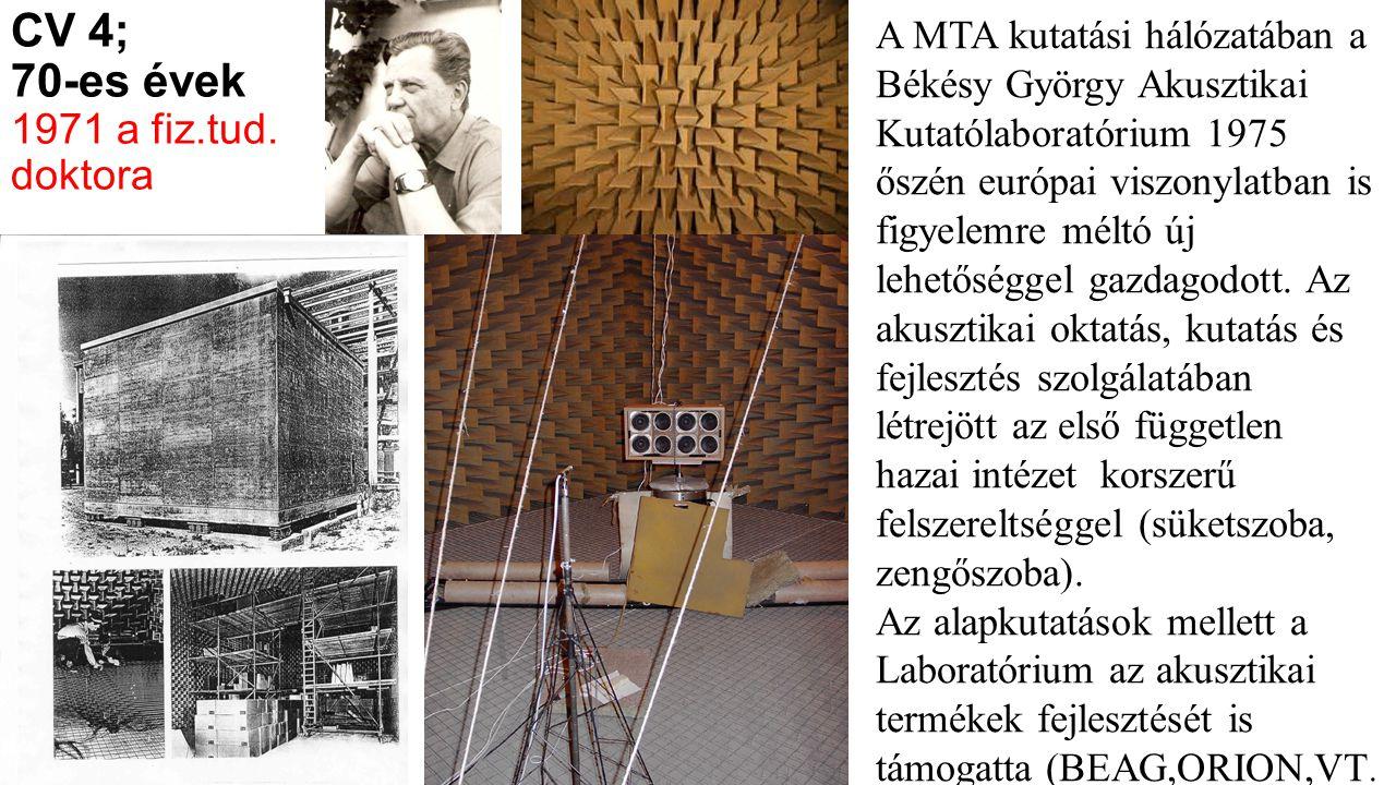 CV 4; 70-es évek 1971 a fiz.tud. doktora