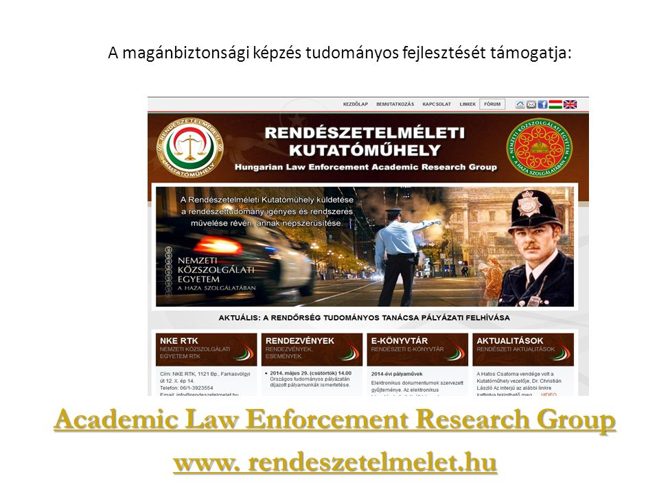 Academic Law Enforcement Research Group