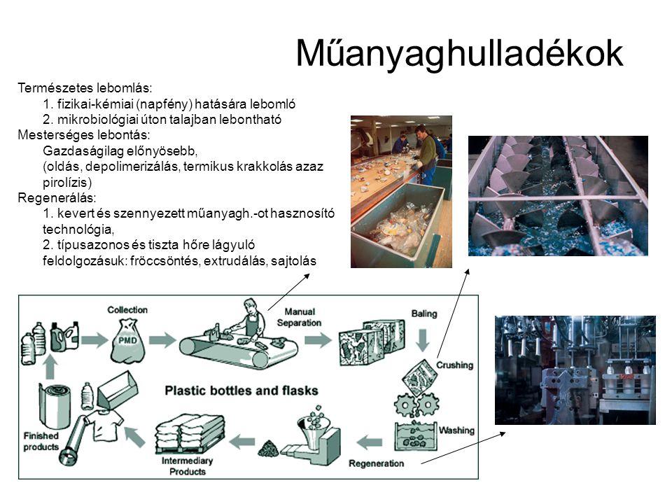 Műanyaghulladékok Természetes lebomlás: