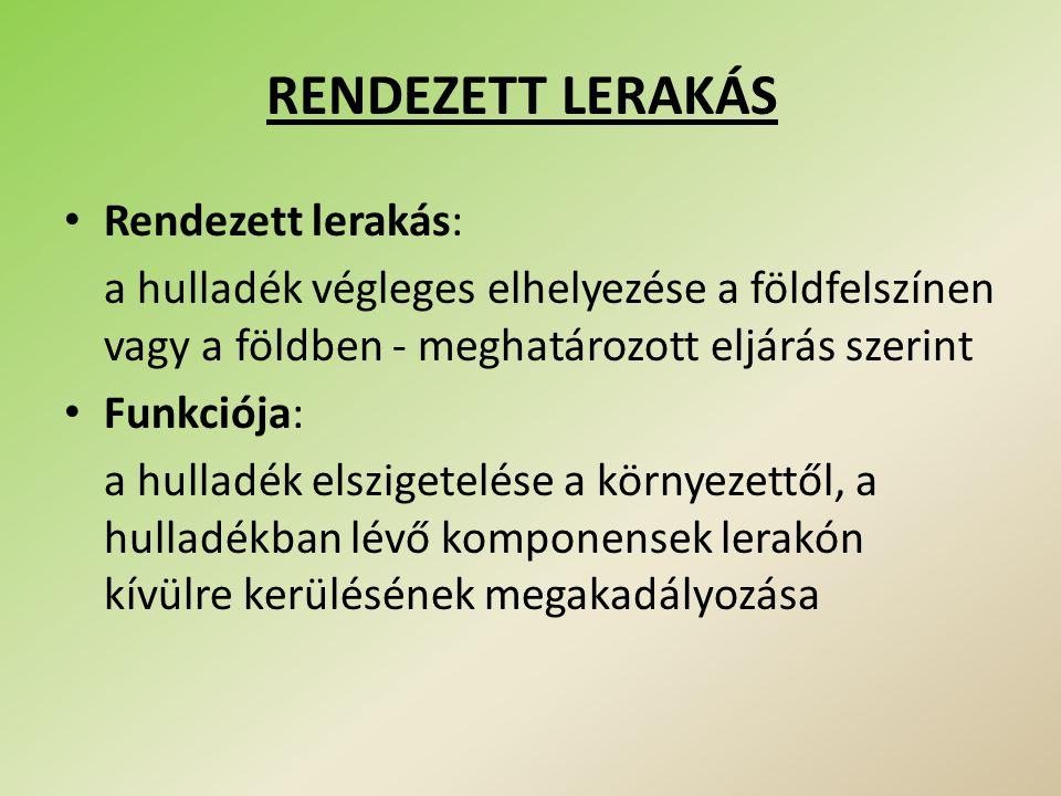 RENDEZETT LERAKÁS Rendezett lerakás: