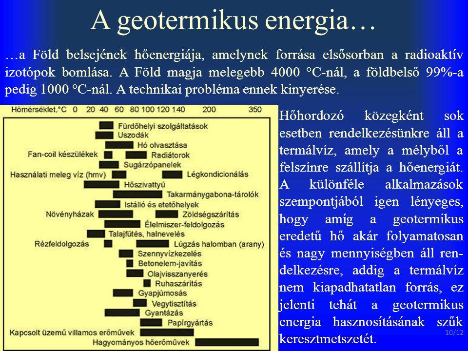 A geotermikus energia…