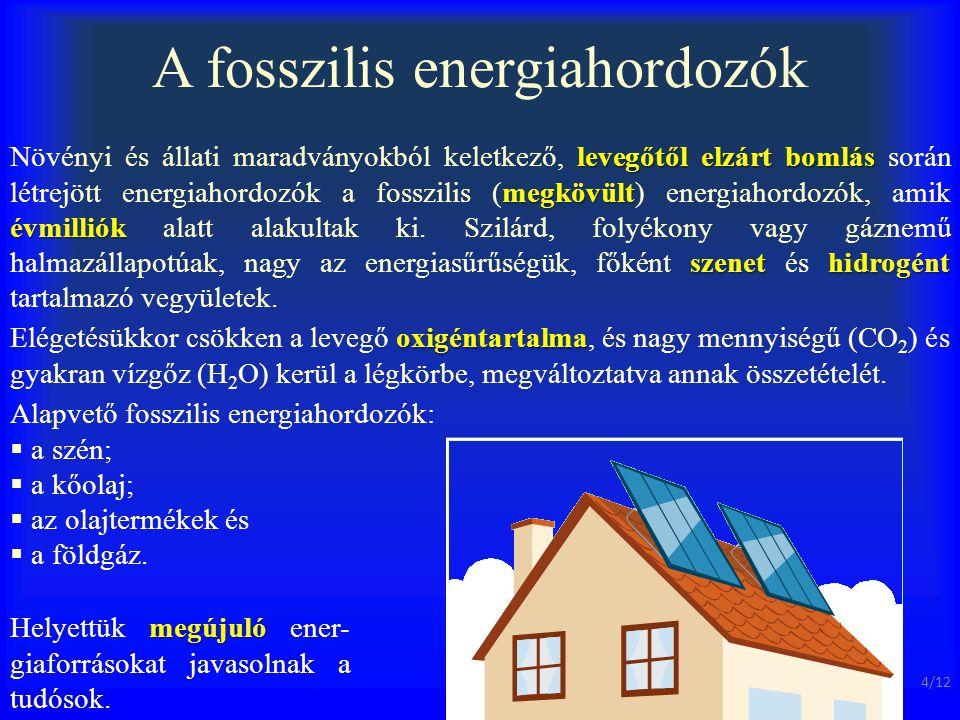 A fosszilis energiahordozók