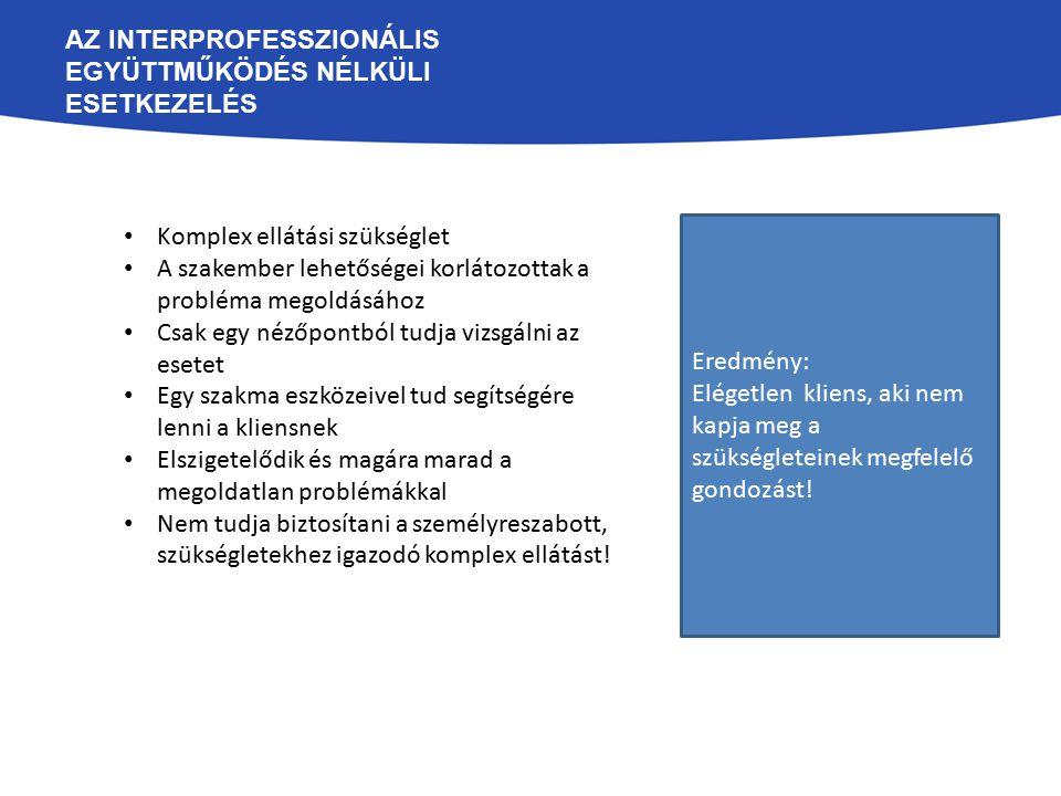 Az interprofesszionális együttműködés nélküli esetkezelés