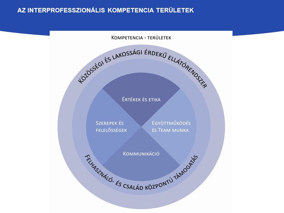 Az interprofesszionális kompetencia területek