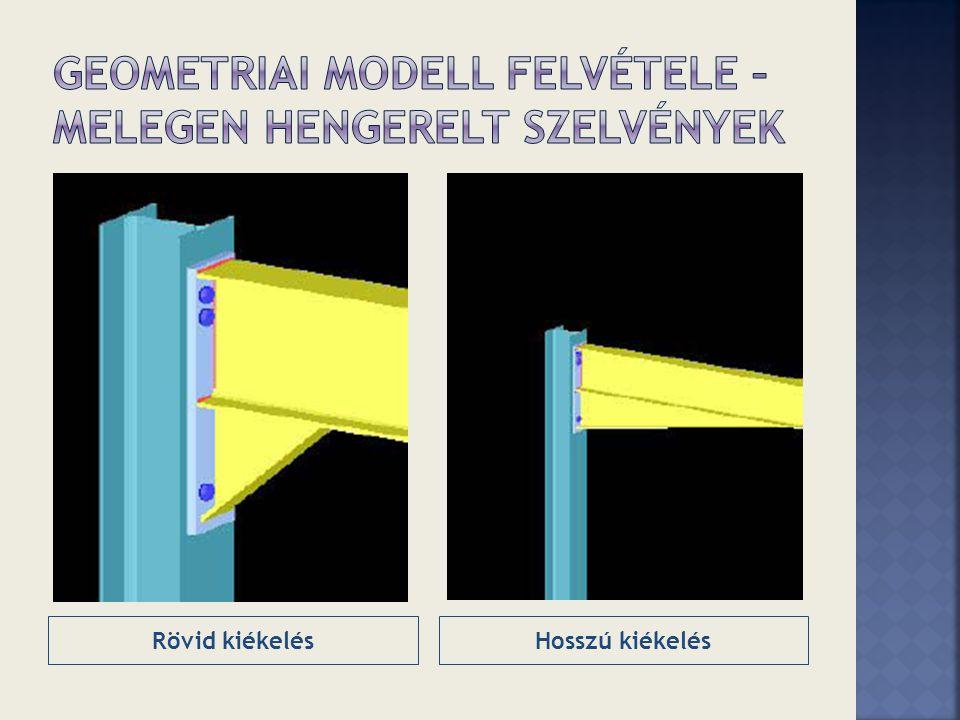 Geometriai modell felvétele – Melegen hengerelt szelvények
