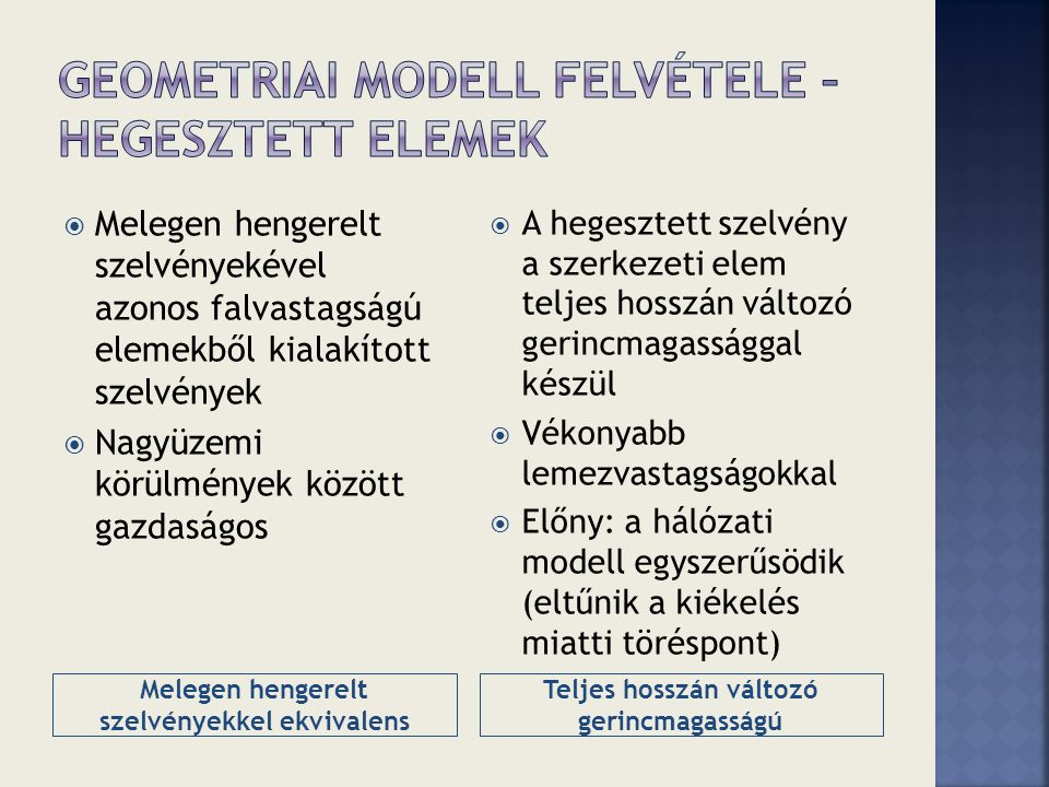 Geometriai modell felvétele – Hegesztett elemek
