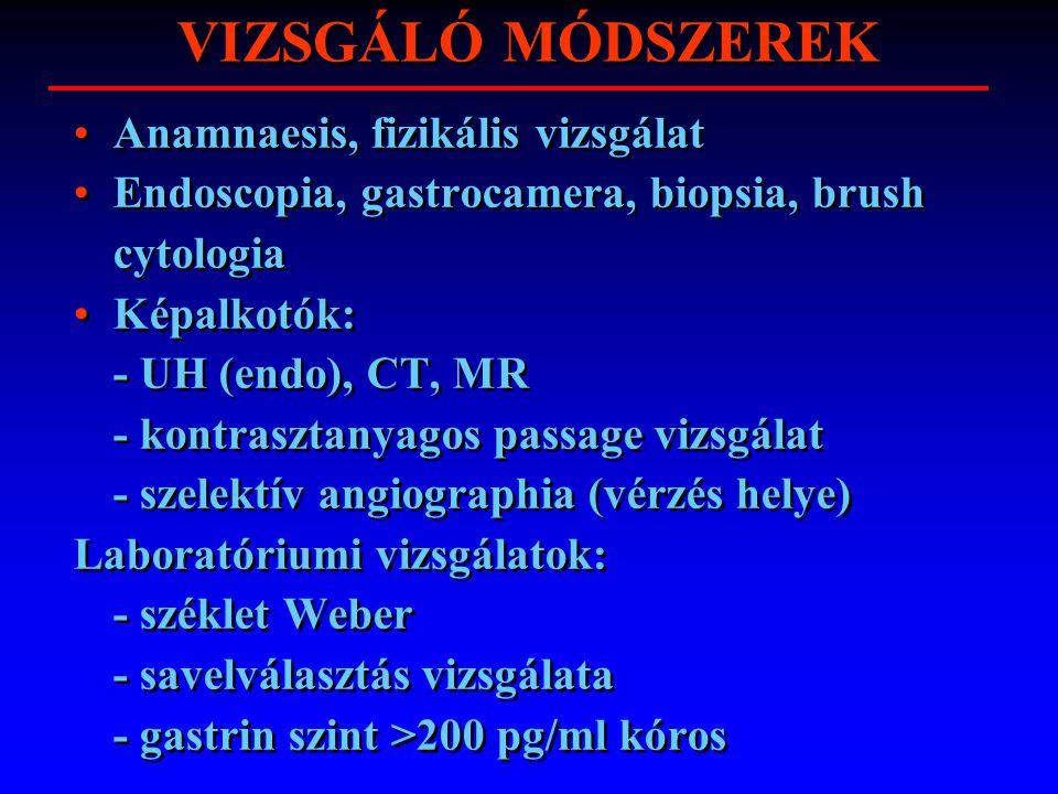 VIZSGÁLÓ MÓDSZEREK Anamnaesis, fizikális vizsgálat