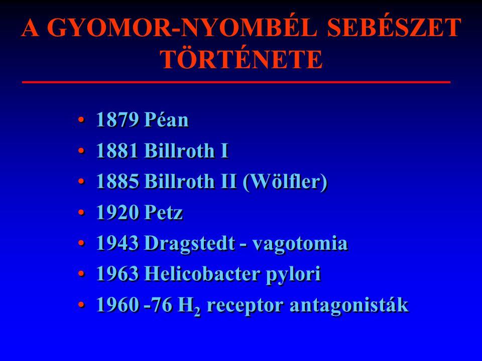 A GYOMOR-NYOMBÉL SEBÉSZET TÖRTÉNETE