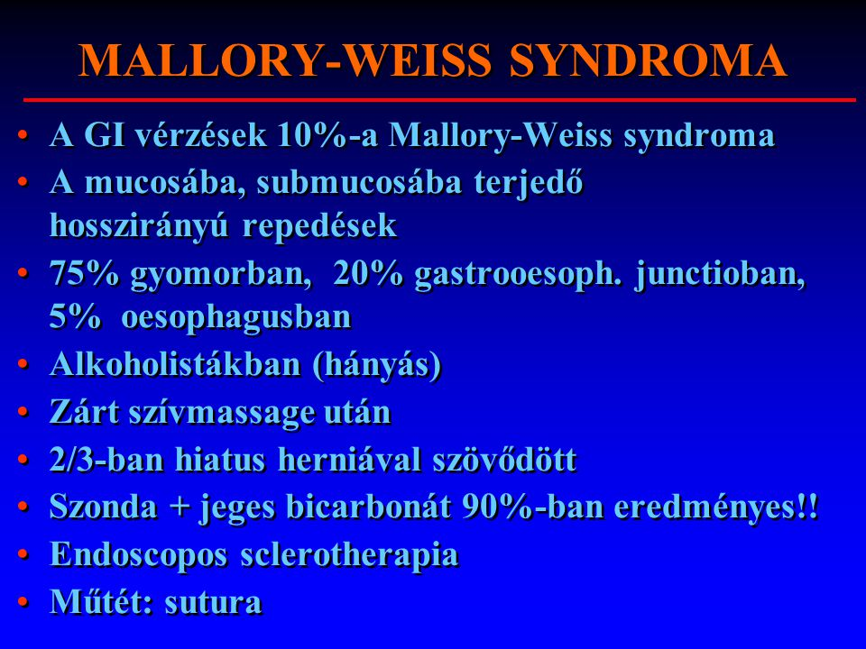 MALLORY-WEISS SYNDROMA