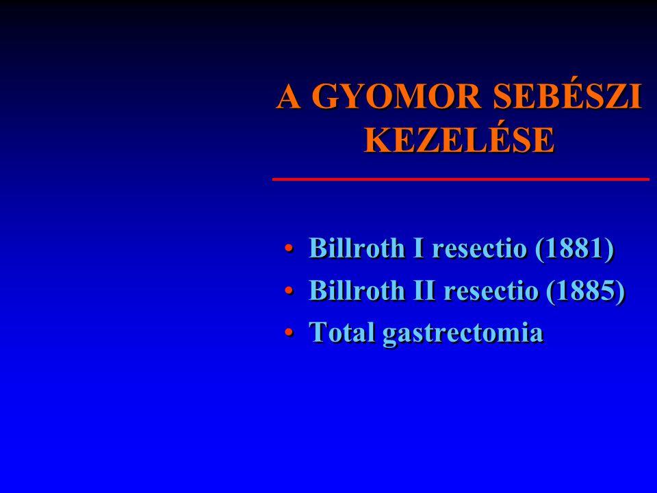 A GYOMOR SEBÉSZI KEZELÉSE