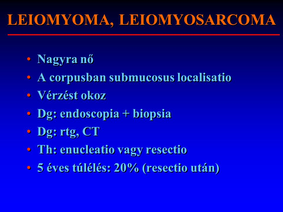 LEIOMYOMA, LEIOMYOSARCOMA