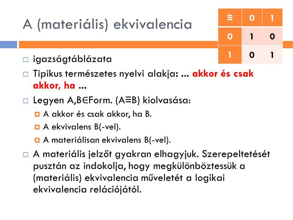 A (materiális) ekvivalencia