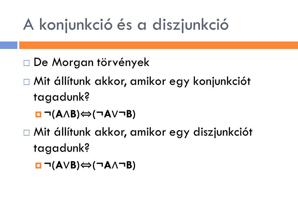 A konjunkció és a diszjunkció