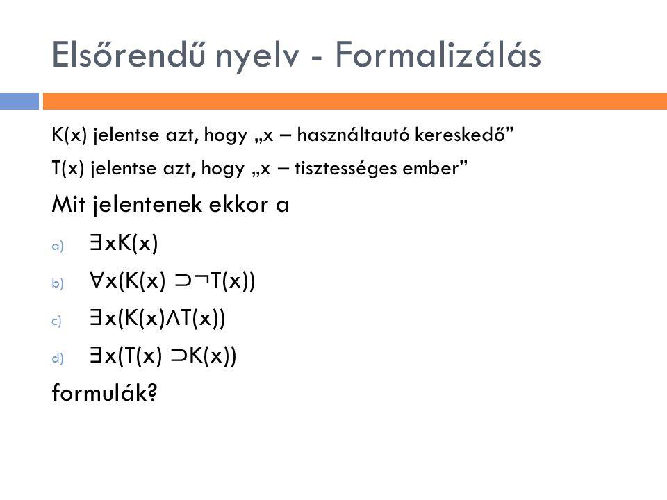 Elsőrendű nyelv - Formalizálás