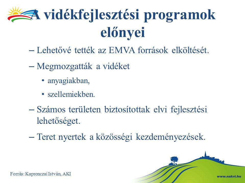 A vidékfejlesztési programok előnyei