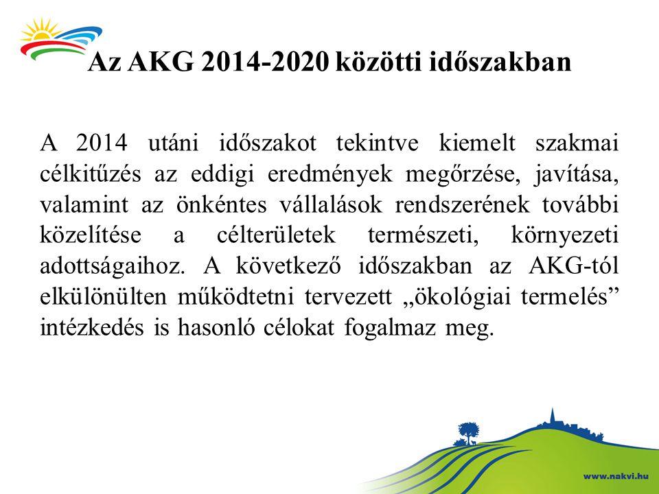 Az AKG 2014-2020 közötti időszakban