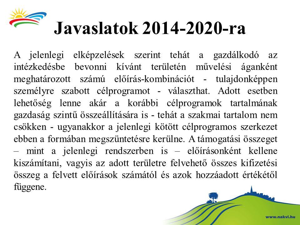 Javaslatok 2014-2020-ra