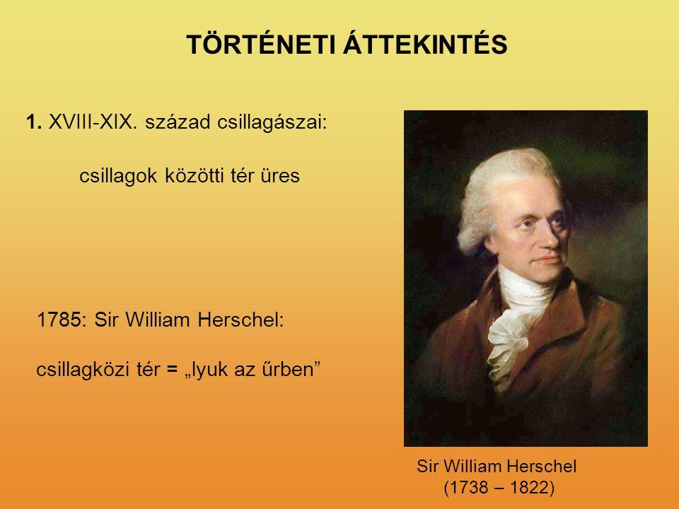 TÖRTÉNETI ÁTTEKINTÉS 1. XVIII-XIX. század csillagászai: