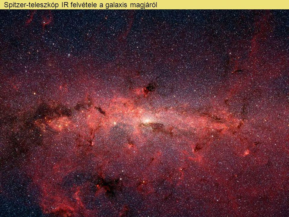 Spitzer-teleszkóp IR felvétele a galaxis magjáról