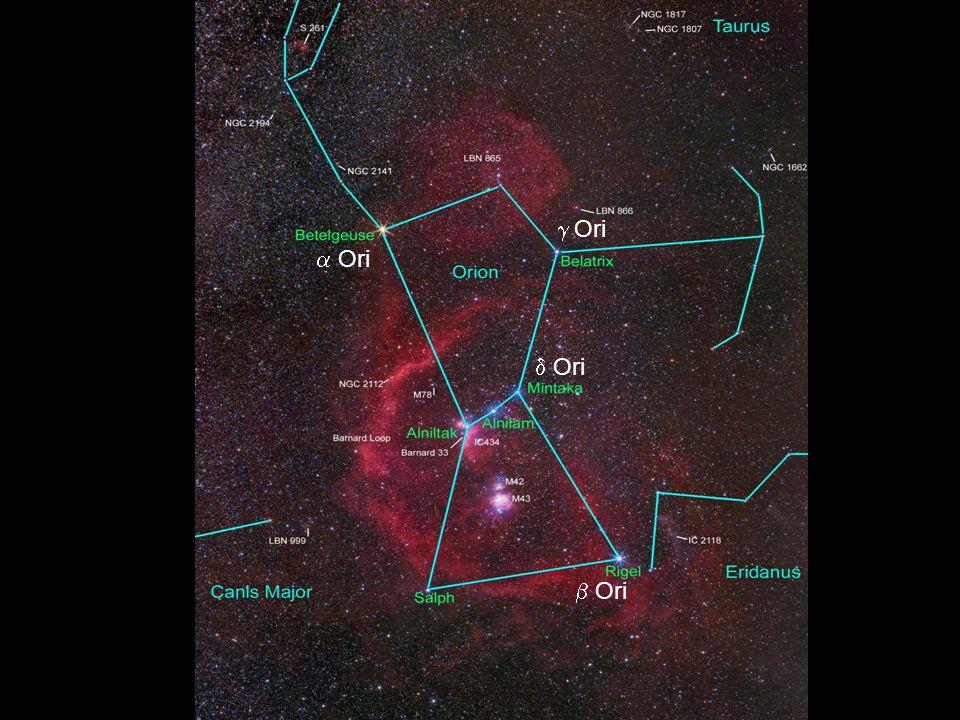 g Ori a Ori d Ori b Ori alpha: Betelgeuse – óriáscsillag