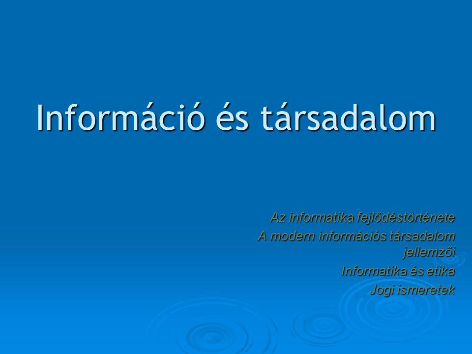 Információ és társadalom