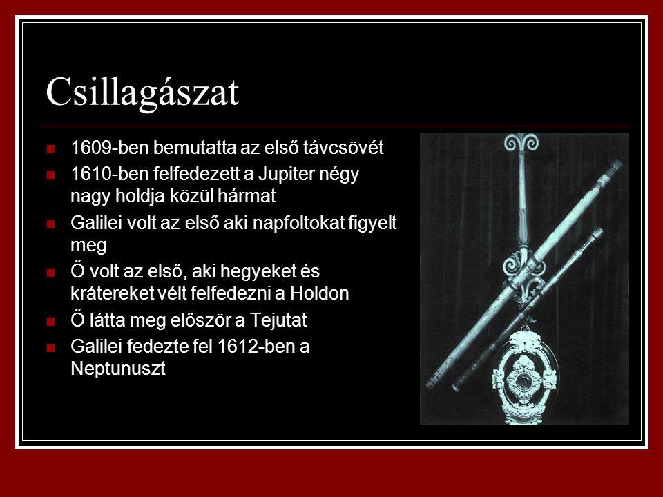 Csillagászat 1609-ben bemutatta az első távcsövét