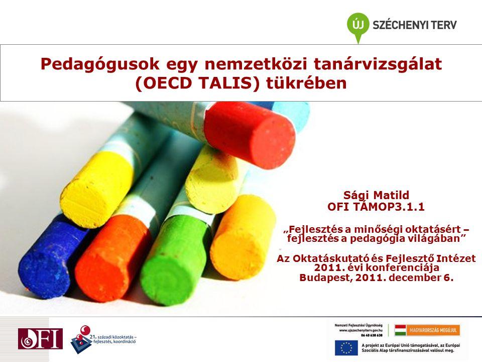 Pedagógusok egy nemzetközi tanárvizsgálat (OECD TALIS) tükrében