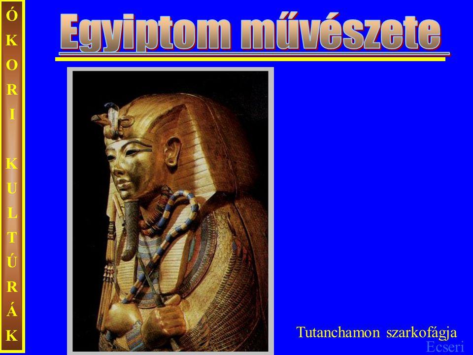 ÓKORI KULTÚRÁK Egyiptom művészete Tutanchamon szarkofágja