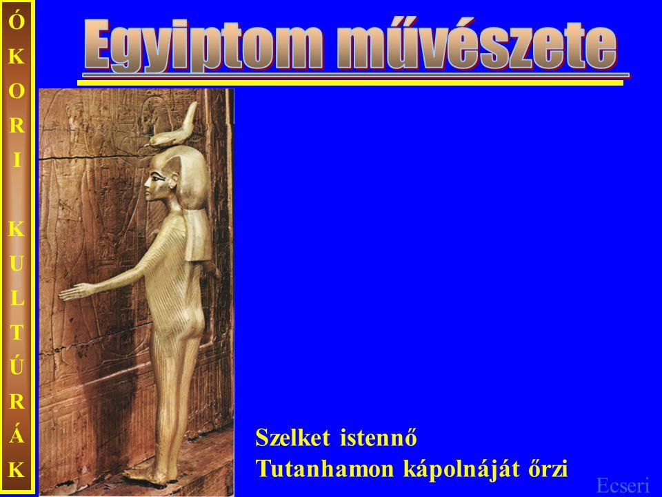 Egyiptom művészete Szelket istennő Tutanhamon kápolnáját őrzi