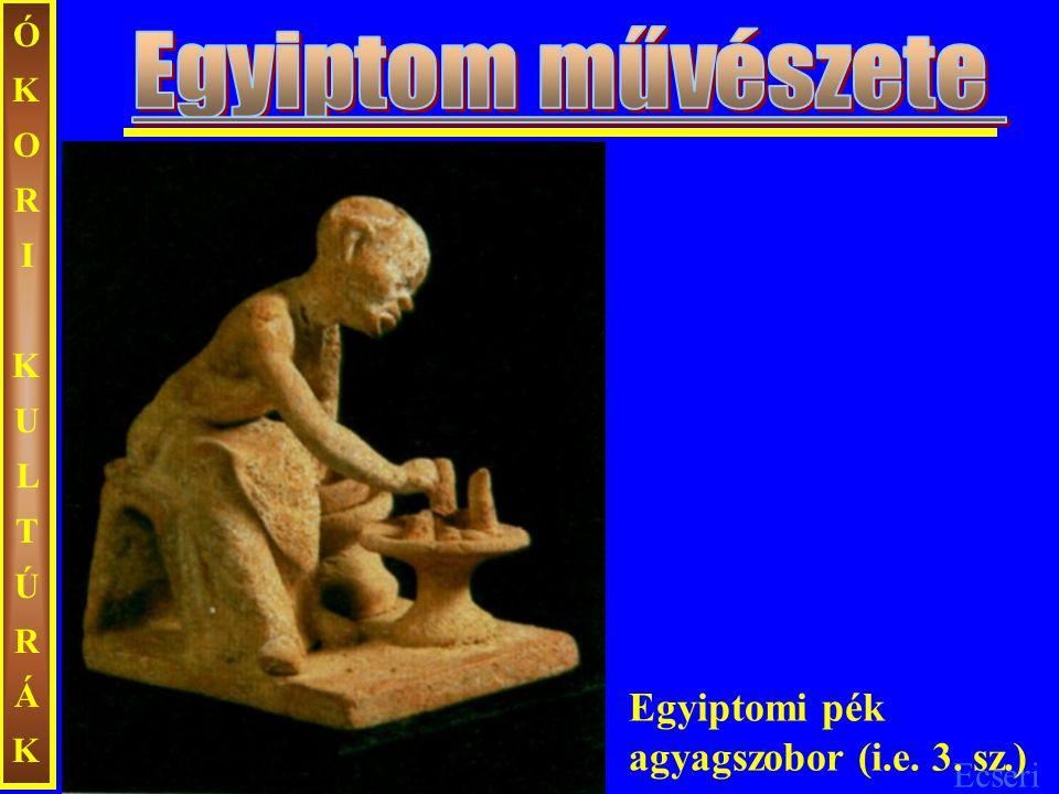 Egyiptom művészete Egyiptomi pék agyagszobor (i.e. 3. sz.)