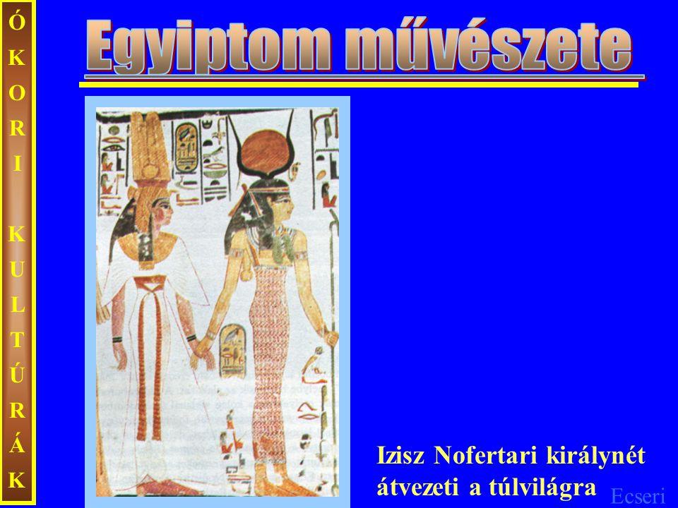 Egyiptom művészete Izisz Nofertari királynét átvezeti a túlvilágra