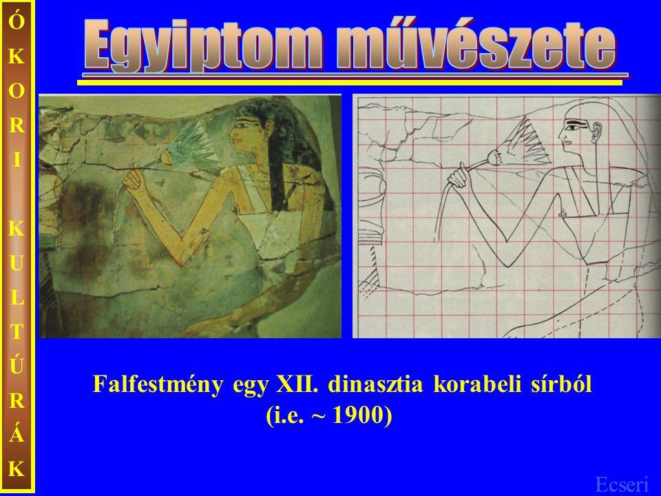 ÓKORI KULTÚRÁK Egyiptom művészete. Falfestmény egy XII.