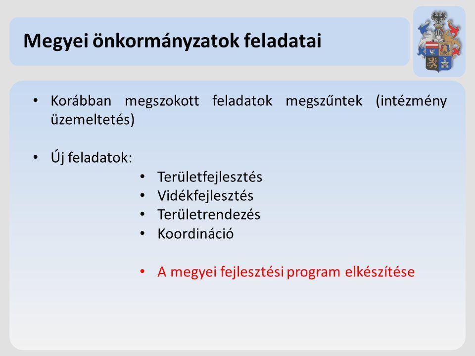 Megyei önkormányzatok feladatai