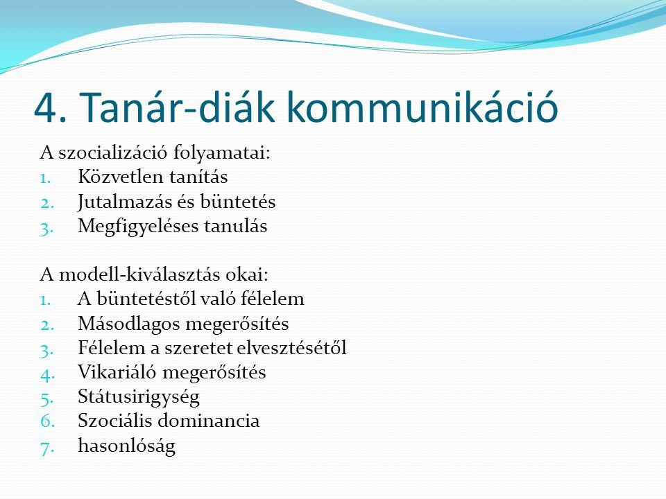4. Tanár-diák kommunikáció