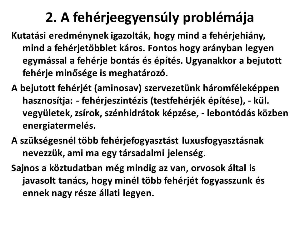 2. A fehérjeegyensúly problémája