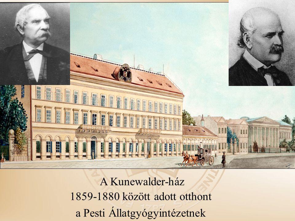 A Kunewalder-ház 1859-1880 között adott otthont a Pesti Állatgyógyintézetnek