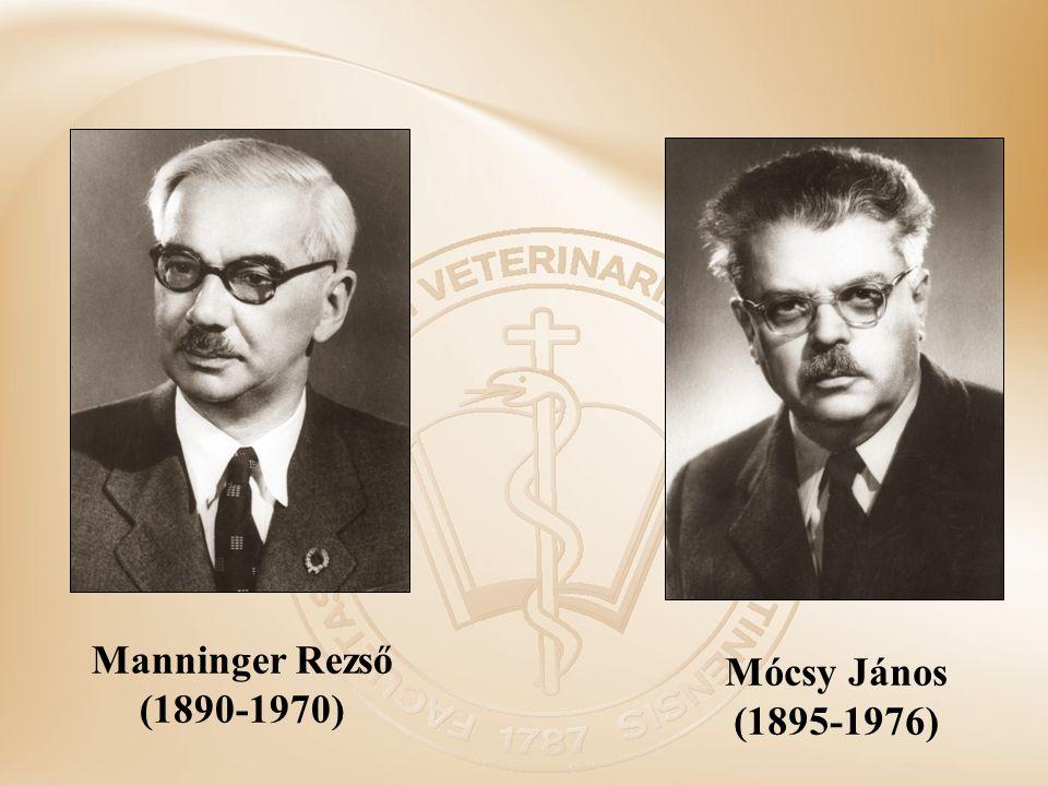 Manninger Rezső (1890-1970) Mócsy János (1895-1976)