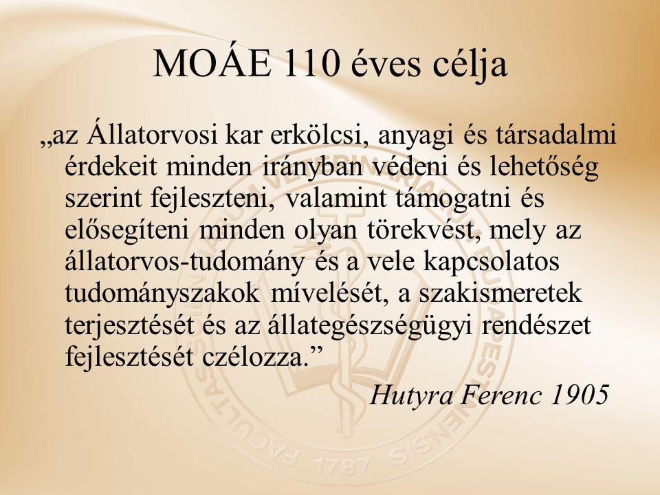 MOÁE 110 éves célja