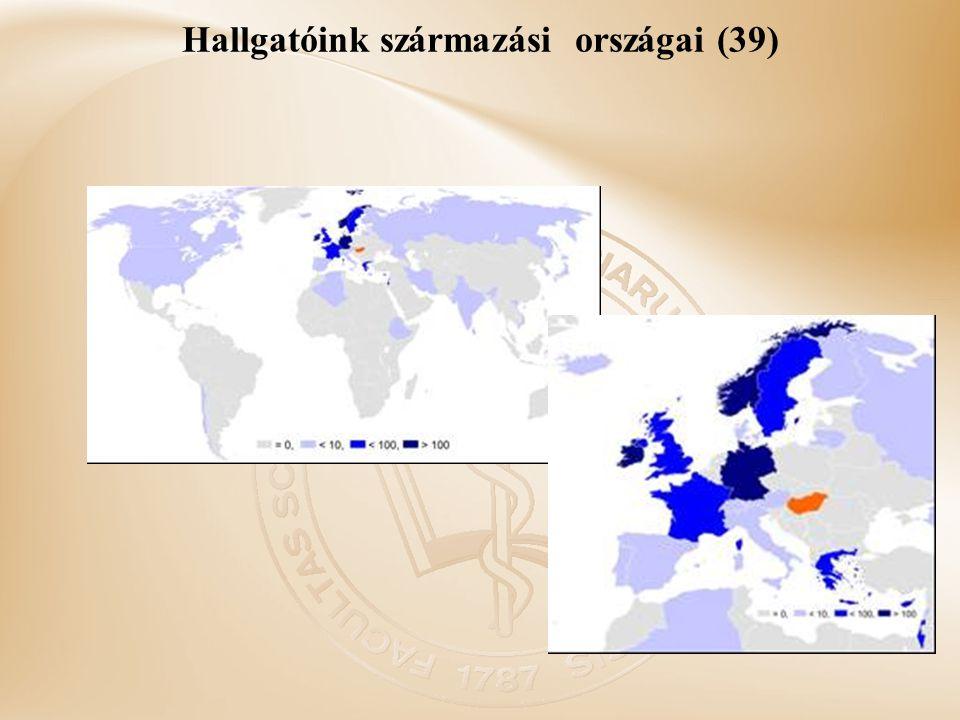 Hallgatóink származási országai (39)