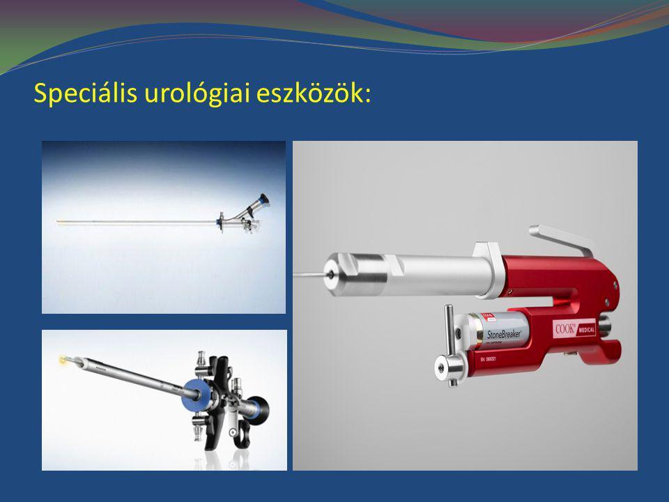 Speciális urológiai eszközök: