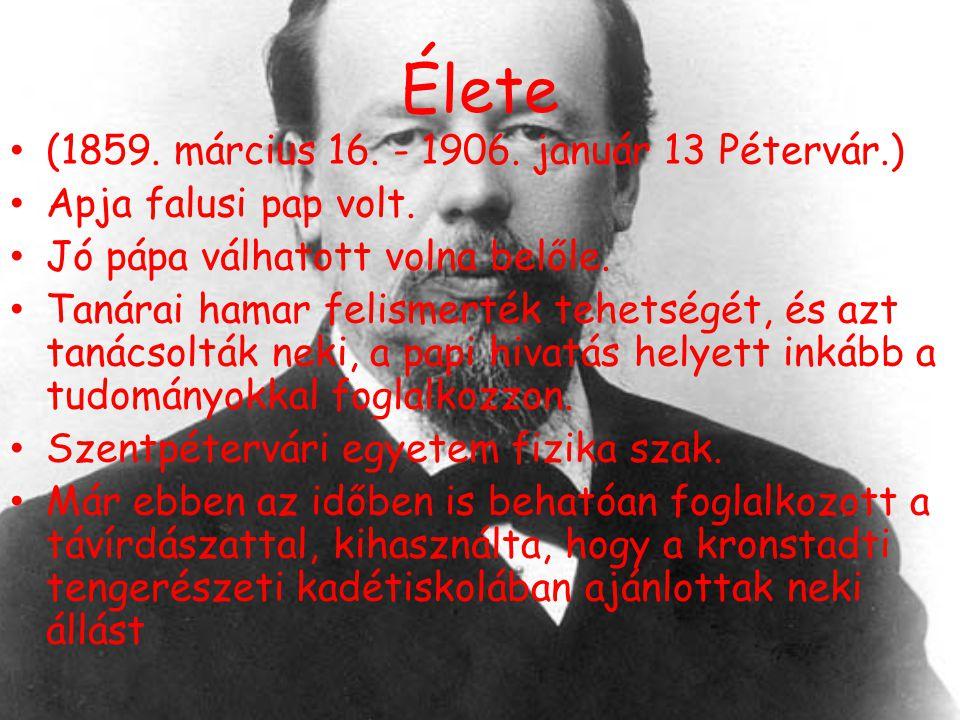 Élete (1859. március 16. - 1906. január 13 Pétervár.)