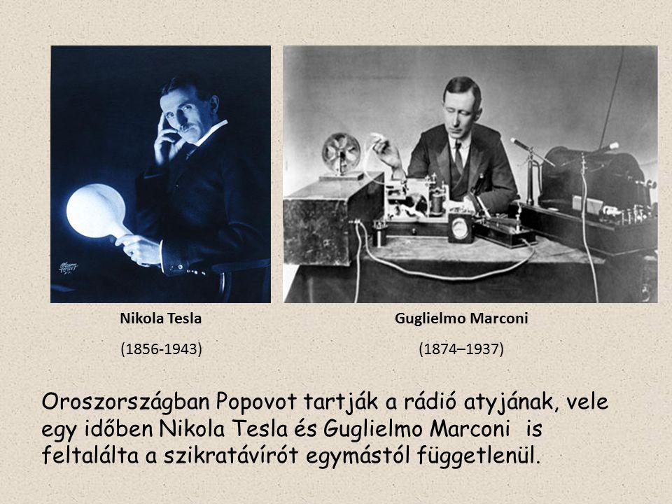 Nikola Tesla (1856-1943) Guglielmo Marconi. (1874–1937)