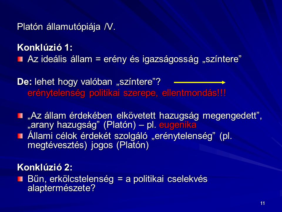 Platón államutópiája /V.