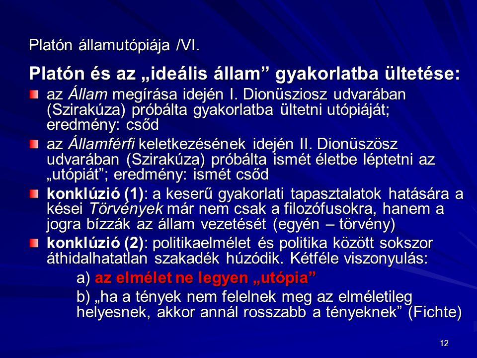 Platón államutópiája /VI.