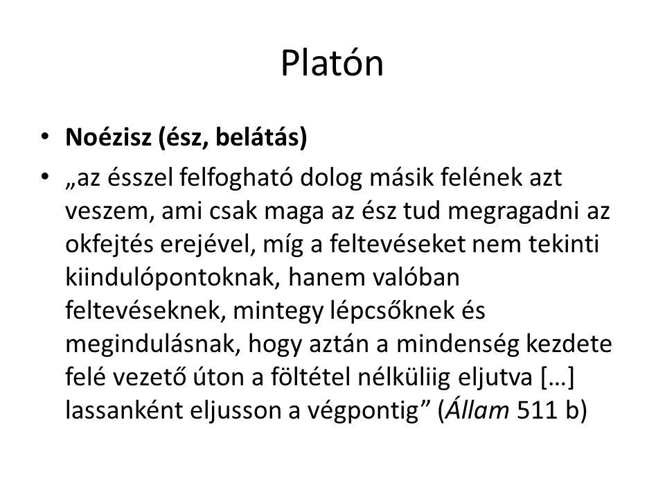 Platón Noézisz (ész, belátás)