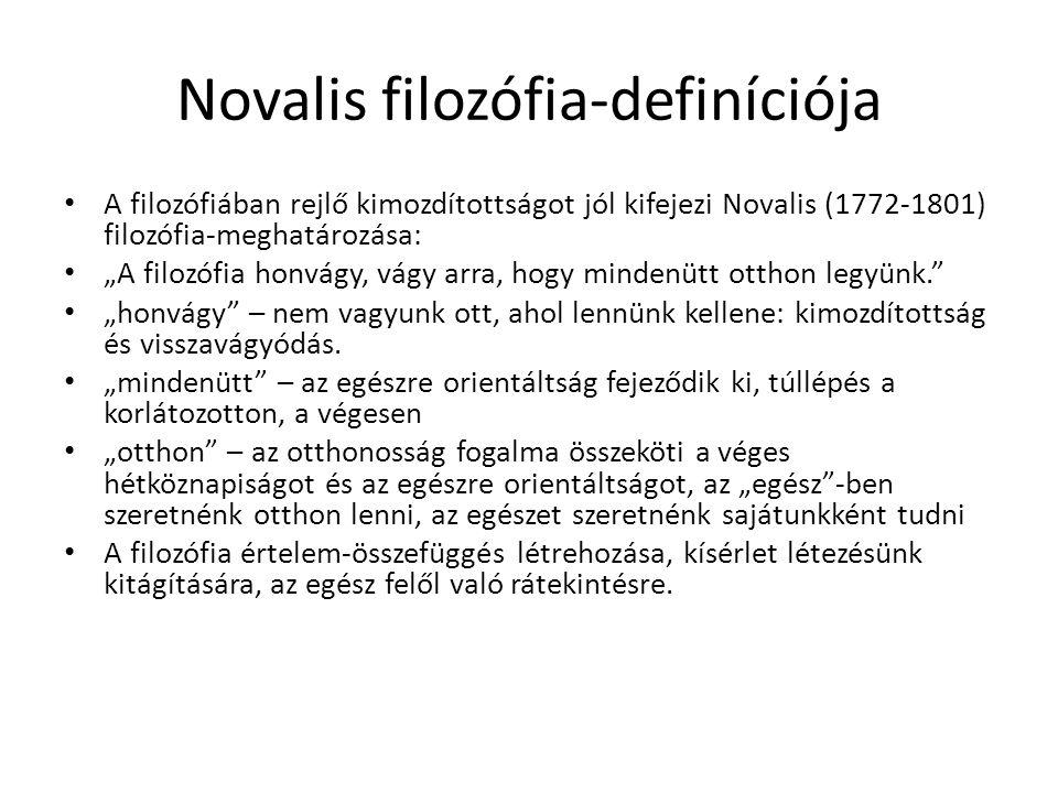 Novalis filozófia-definíciója