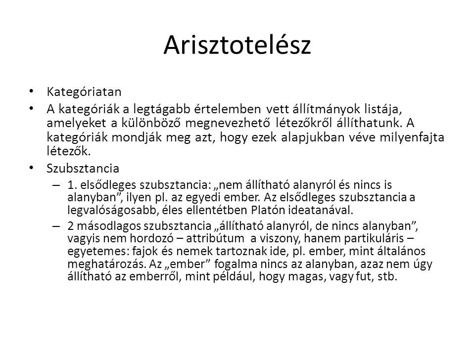 Arisztotelész Kategóriatan
